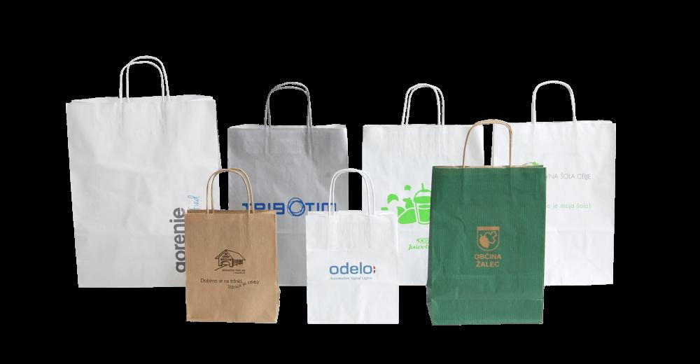 Papirne nosilne vrečke s tiskom